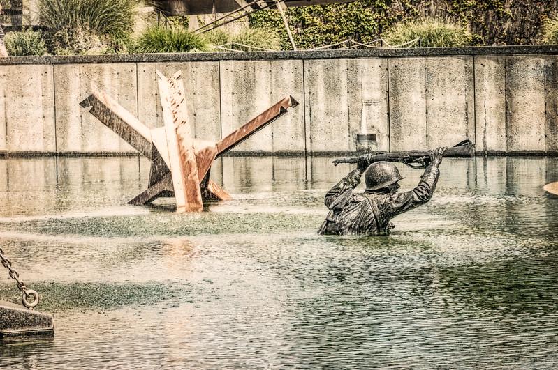 Through The Surf Sculpture, National D-Day Memorial, Bedford, Virginia