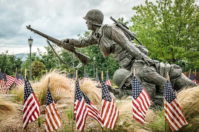 Valor, Fidelity, Sacrifice Sculpture, National D-Day Memorial, Bedford, Virginia