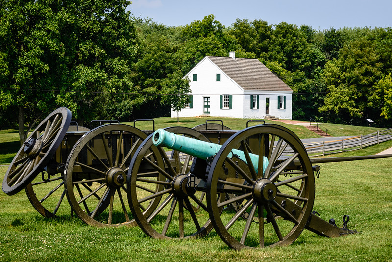 Cannons & Dunker Church, Antietam National Battlefield, Sharpsburg, MD
