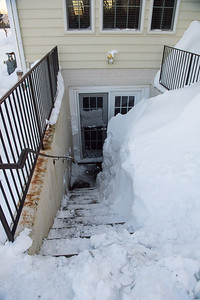This is what an 8 foot drift looks like in your stairwell.
