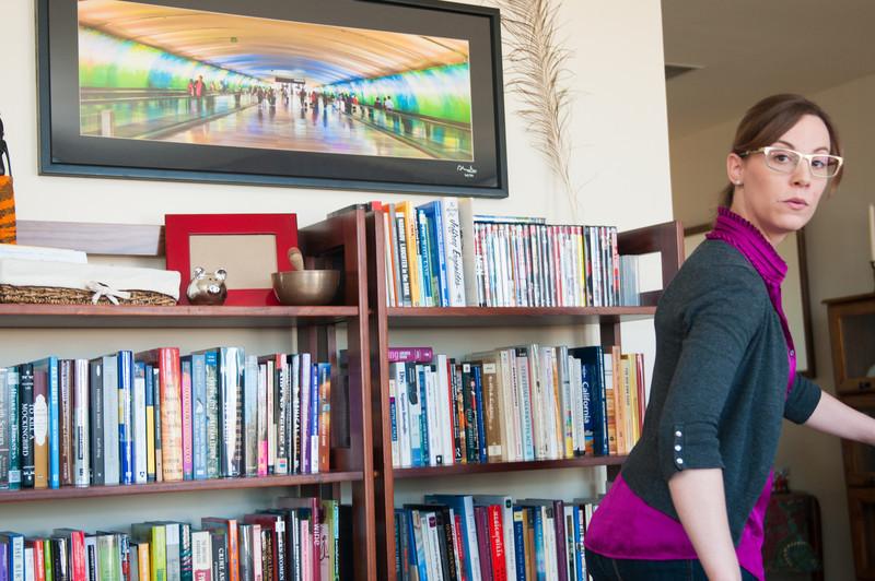 Jamie in her apartment, Ann Arbor