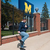 Jay does the Heisman near where others have won it.