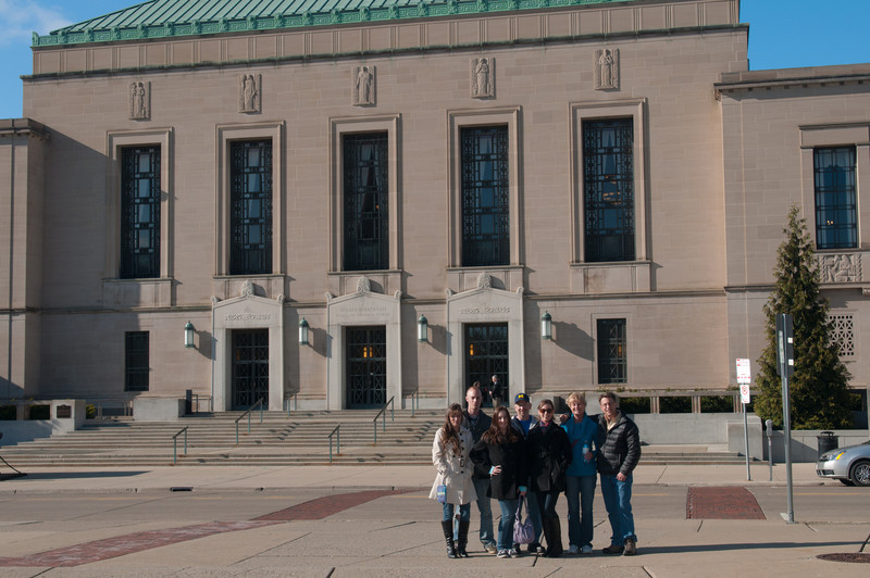 In front of the Horace H. Rackham School of Graduate Studies