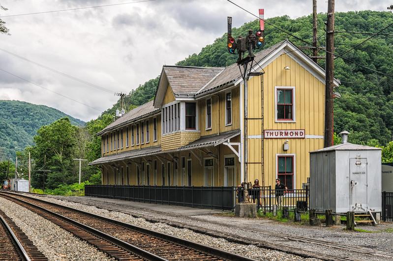 Thurmond Railroad Depot, New River Gorge National River Visitor Center, Thurmond Historic District, West Virginia
