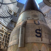 The Titan II missile looks out into the sky with an empty warhead.