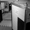 """A view of """"Blast Door 6"""", one of the entrances into the missile silo.  The door itself is about a foot thick, and if you look at the doorway you can see that the wall is about 3 feet thick."""