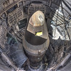 Looking down into the silo and the giant Titan II missile.