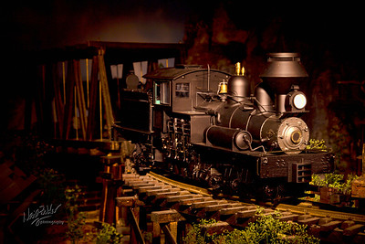 Taken in the Danbury, CT Train Museum. Light painting on a model train. Lots of fun!