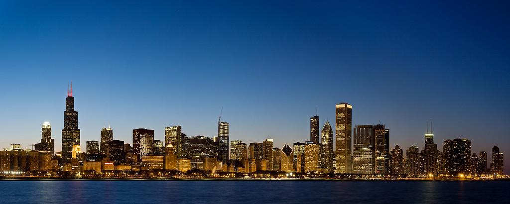 Chicago Night Skyline #2