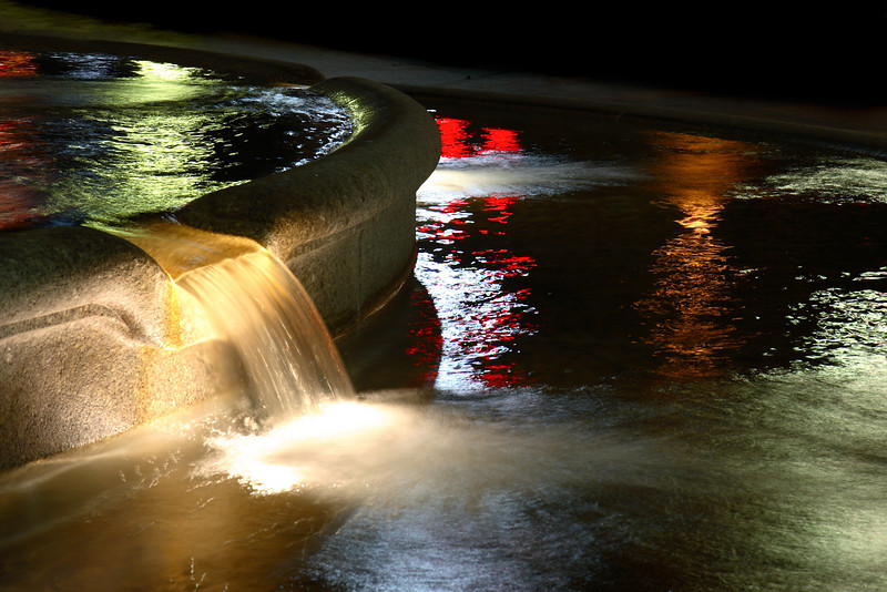City Fountain at Night, Washington, D.C.