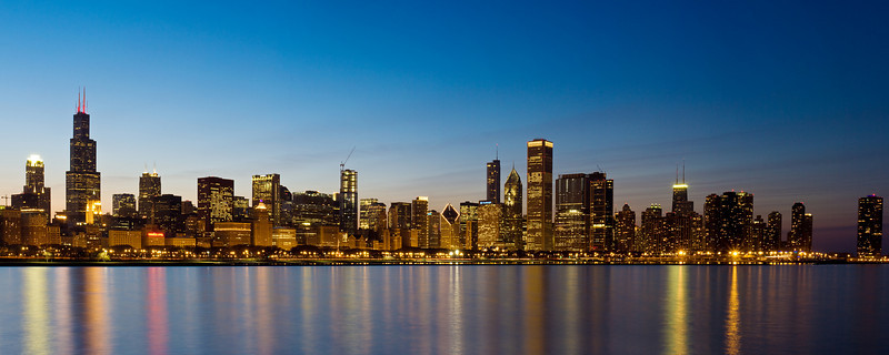 Chicago Night Skyline #3