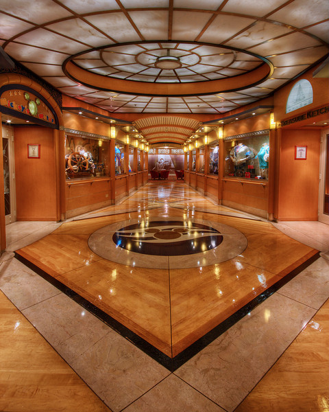 Hallway on the Disney Magic