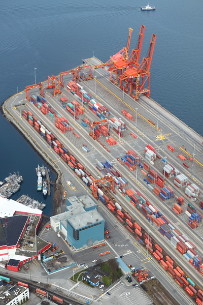 The main container dockyards.