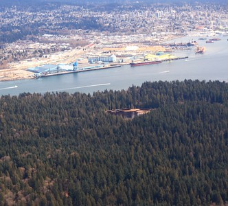 Beaver Lake in Stanley Park, and the North Shore docks.