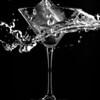 Cocktail glass darkfield icecube splash #2.