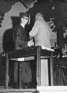 Wasco High school graduation, 1956