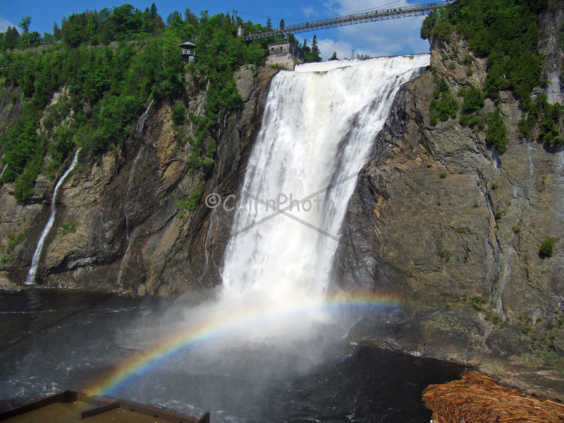 Rainbow beneath Montmorency Falls, Quebec