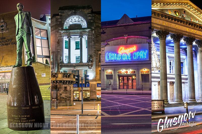 Glasgow at Night Collage