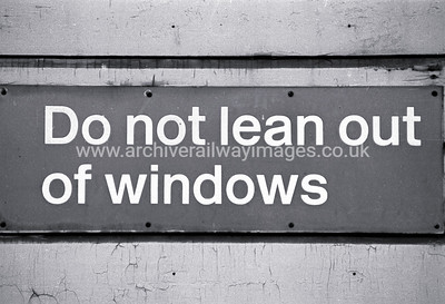 Do Not Lean Out Of Windows 16/1/86 Exeter St. Davids