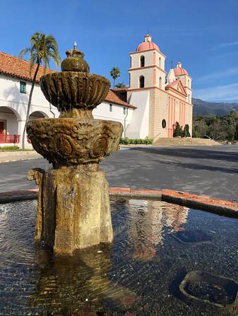 Iconic Santa Barbara Mission Fountain