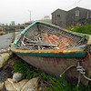 Dilapidated row boat.  Peggy's Cove, Nova Scotia