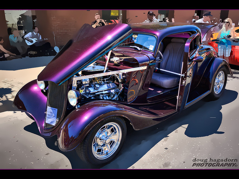 Purple '34 Ford