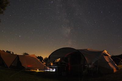 Night sky above campsite Oosterend (Terschelling)