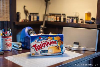 8-year old box of Hostess Twinkies