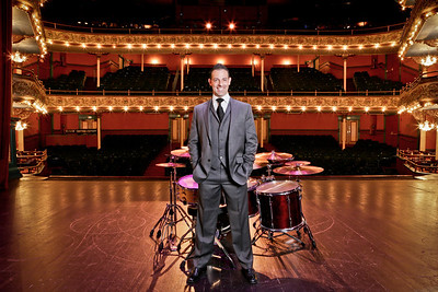 Steve Moretti. (Two-time Grammy® nominated and two-time Telly Award winning, drummer/ percussionist/producer) Photographed at the Grand Opera House.