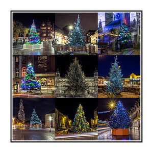 Square Collage Christmas Trees