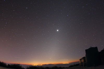 The zodiacal light with Venus and Jupiter