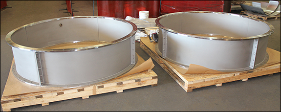 """85"""" Dia. Clamshell Spools Designed for an Exhaust Wall Protrusion Clamshell (#144883 - 04/04/2016)"""
