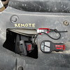 Warn wireless remote #90287 for the winch, hole in shroud allows access to the solenoid plug.