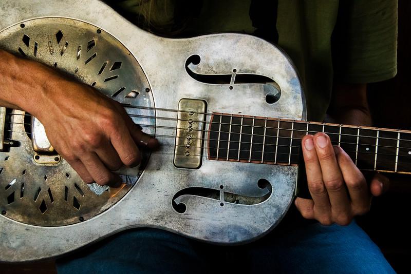 Charlie Parr on steel guitar