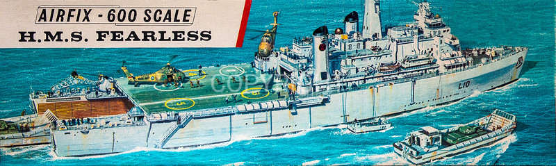 R.N. HMS Fearless helicopter and amphibious assault ship.