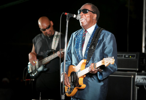 Clarence Carter performing at a Second Sunday concert. (College Hill Alliance)