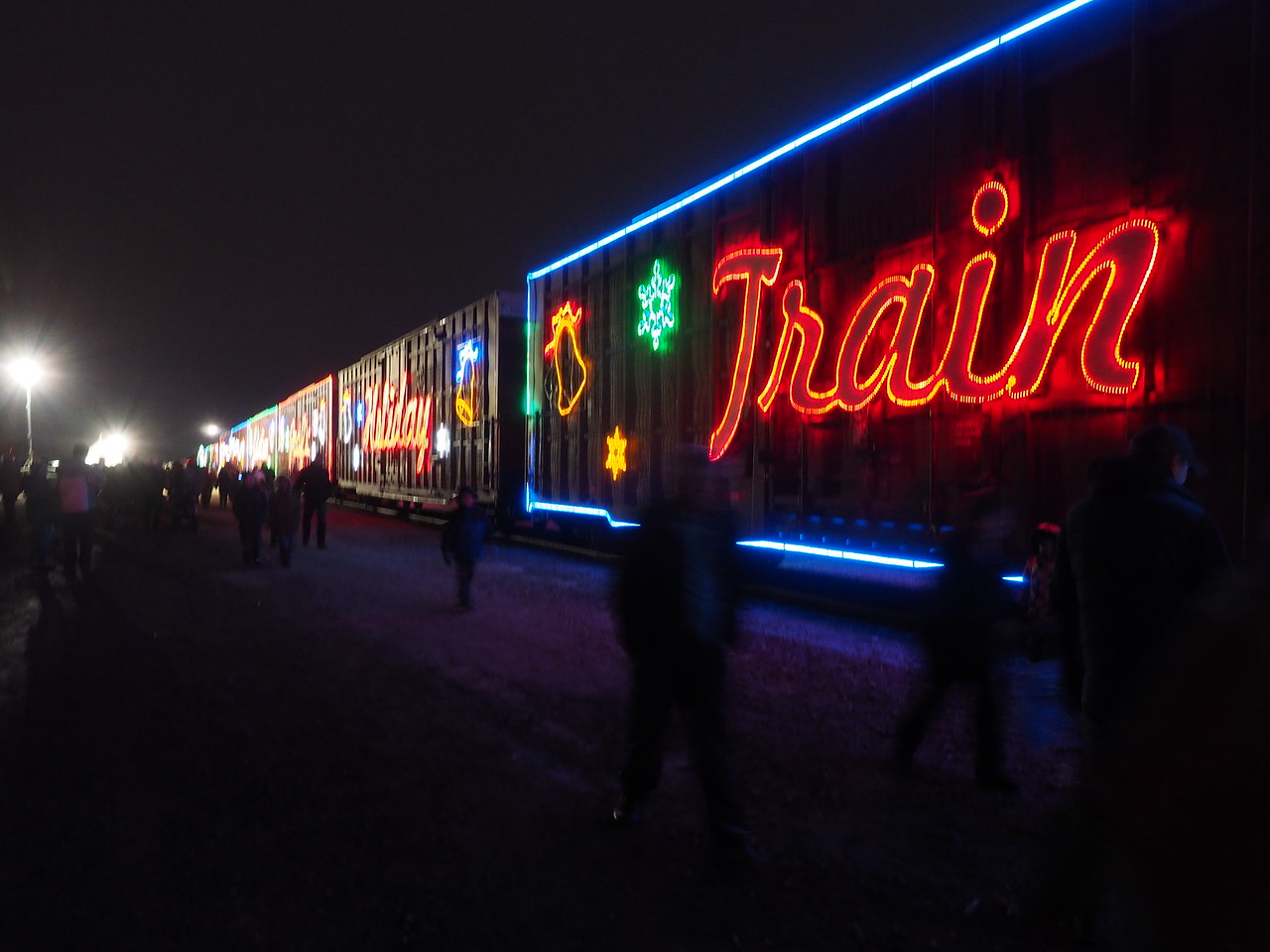 TRAIN AT NIGHTTIME