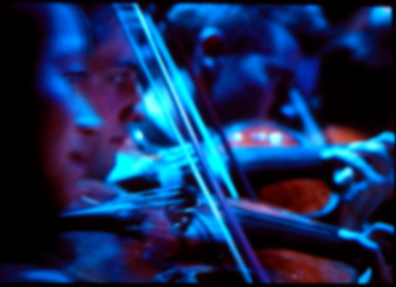 Blue  Strings.