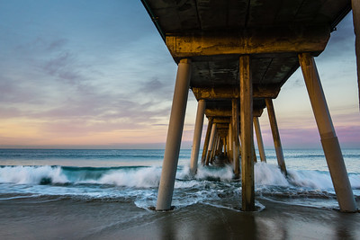 Waves Under Hermosa Beach Pier