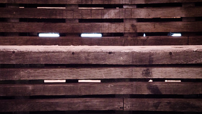 Hammarby Sjöstad Pier Wood And Lights