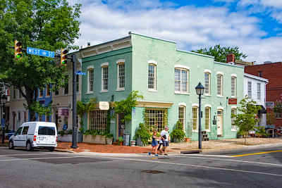 Street view in Alexandria, Virginia.