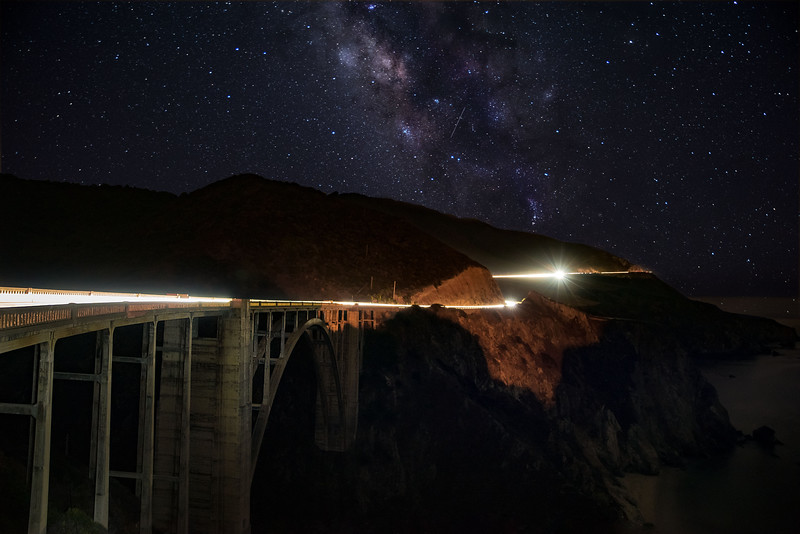 Lights on Bixby Bridge