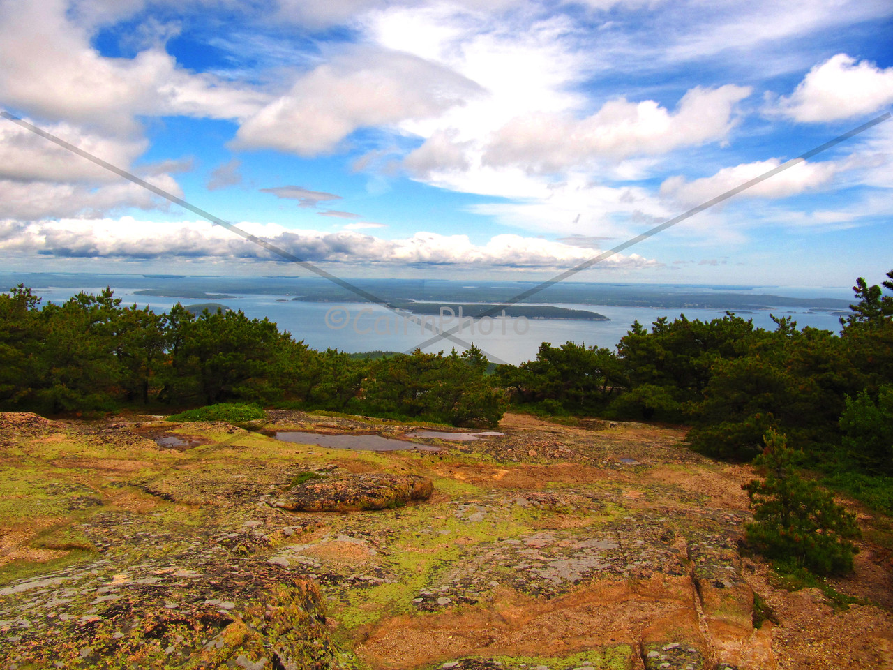 Bar Harbor from Dorr Mountain, Acadia National Park, Maine