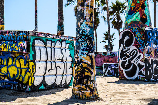 graffiti on the beach
