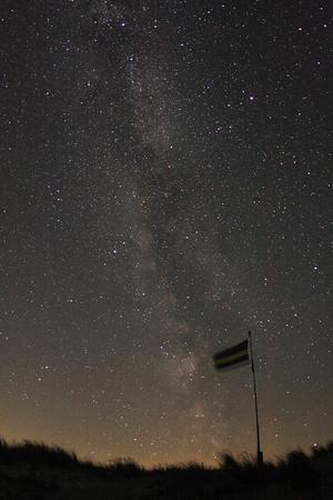 Night sky above Oosterend Beach (Terschelling)
