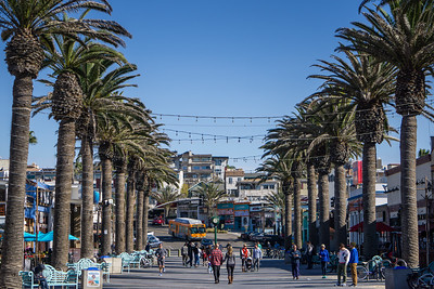 Downtown Hermosa Beach, California