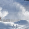 Making snow at a ski hill in Wentworth, Nova Scotia