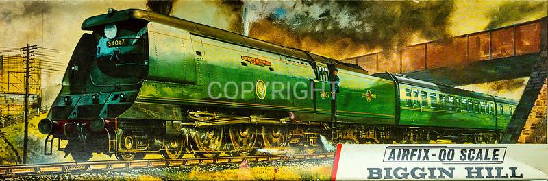 Biggin Hill steam loco in a hurry.