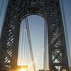 westbound on the George Washington Bridge.