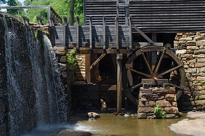 North Carolina Waterfall and Mill